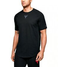 Under Armour Project Rock Charged Cotton Men's Breathable Short Shirt 1351524