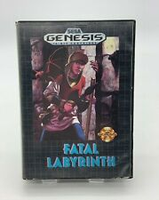 Fatal Labyrinth Sega Genesis Video Game Complete in Box Vintage Retro