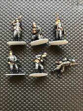 AIRFIX 1/32 MULTIPOSE  WWII GERMAN INFANTRY -BUILT AND PAINTED SIX FIGURES