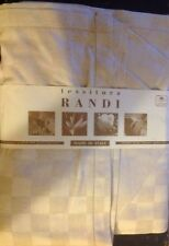 "tessitura RANDI Tablecover 100% Cotton 71"" X 106"" Rectangular Damone Misto Lino"