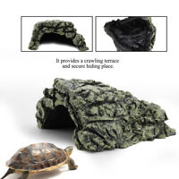 Reptiles Resin Reptile Rock Hide Habitat Cave Hiding Spot Turtles Fish HOT