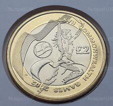 2002 Giochi del Commonwealth Inghilterra BU £ 2 due Pound Coin BU