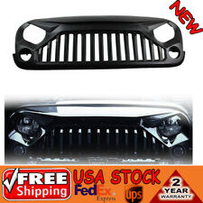 Gladiator Matte Black Angry Bird Grill Grille For 2007-2017 Jeep Wrangler JK