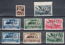 Posta aerea occupazioni Venezia Giulia soprastampati  A.M.G. V.G. 1945/47 MNH**