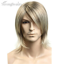 Synthetic Hair Blonde Straight Wig For Men Cosplay Halloween Medium Long Wigs