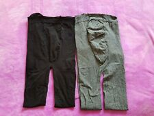 Maternity Size M tights bundle (2 pairs) Black/Grey 80 denier