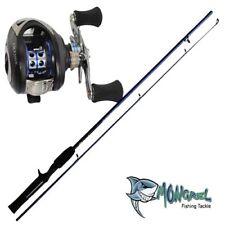 New Bait caster Rod & Reel Combo 1.7 meter rod Fishing combo shore kayak boat RH