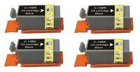 4 BLACK Compatible printer Ink Cartridges for Canon Pixma ip90 i70 80 bci-15bk