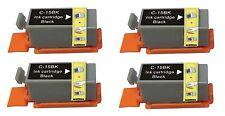 4 Nero Cartucce D'inchiostro Per Stampante Compatibile Per Canon Pixma ip90 i70 80 bci-15bk