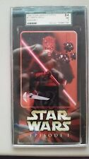 1999 STAR WARS TOPPS #2 DARTH MAUL EPISODE I WIDEVISION TIN CARD SGC 84 NM 7