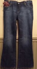 "7 For All Mankind Bootcut In Nikita Women's 31"" Blue Jeans Retail $198 NWT"