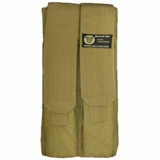 Bulle Tan MOLLE Webbing Tactical Tall Double Mag Pouch P90 UMP Rods Utilities