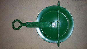 "10"" Gin Wheel c/w Swivel Eye for fibre rope"