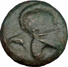MESEMBRIA 300BC Corinthian Helmet & Wheel Authentic Ancient Greek Coin  i37443
