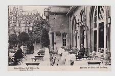 RPPC,Koln,Germany,Hotel Kolner Hof,Terrasse mit Dom,No.Rhein-Westphalia,c.1909