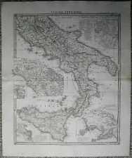 1850 Spruner historical map ITALIA INFERIOR (#12)