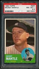 MICKEY MANTLE 1963 TOPPS YANKEES CARD #200 PSA 8.5 *SHARP*