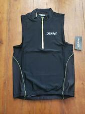 ZOOT Mens Small Performance Tri Sleeveless Jersey Black/Pure Yellow S Triathlon