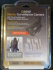 TWO DECOY SURVEILLANCE CAMERA AND 8 MAGNETIC DOOR OR WINDOW ALARM SENSORS