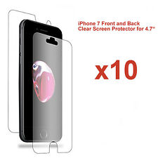 "10x Front and Back LCD Screen Protector Guard for Apple iPhone 7 for 4.7"" Screen"