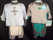 NWT Preemie Carter's COM 2 Outfits 6pc Copilot & Dinosaur (up to 6lb)