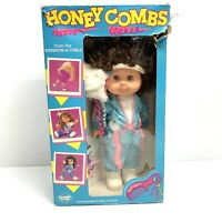 Very Rare! Vintage 1985 Panosh Place Honey Combs Brunette Doll New In Box!