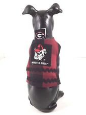 Dog Pet Clothes Harness SZ XS 3 to 5 LBS Handmade  NEW  College Georgia Bulldogs