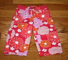 NWT Mini Boden Capri Shorts Floral Size 6Y Girl