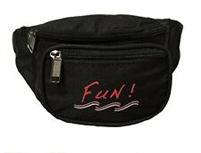10 Pk Yens 3 Zippered Fanny Pack w/ Fun Logo, Black