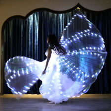 Belly Dance Costume LED Isis Wings (with 2 Sticks)