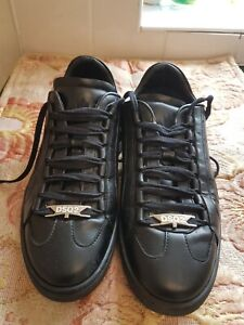 Dsquared2  Leather Trainers Black Size 41