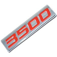 CHROME/RED METAL 3500 SERIES ENGINE MOTOR SWAP BADGE FOR TAILGATE HOOD DOOR