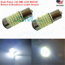 JDM ASTAR 2x 144 SMD 1156 BA15S White Backup Reverse Turn Signal LED Light Bulbs
