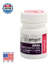 ELEMENT 20% Benzocaine Anesthetic Gel RASPBERRY Dermaroller Derma Roller Micro