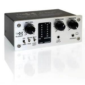 E-Lektron EL222T 2-Kanal USB Audio-Interface 24Bit/48kHz Class-A Pre-Amp Phantom