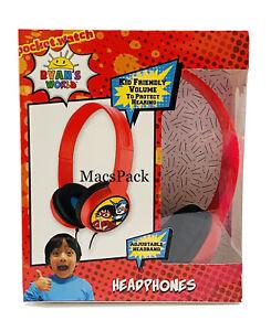 Ryan's World KID SAFE WIRED HEADPHONES for Birthday Gift