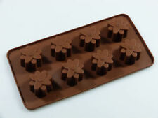 8 LARGE SIMPLE FLOWER Mould Chocolate Collection cake decoration craft diy flexi