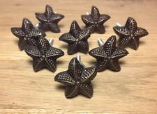 8 Knobs-Nautical Beach Starfish Cast Iron Drawer Cabinet Knobs