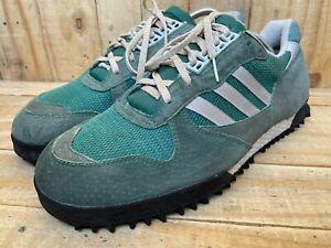 Rare 🔥Adidas Vintage Marathon TR Green Made in Korea Sz- UK 12.5   US 13