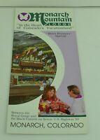 Monarch Mountain Lodge Colorado Vintage Ski Apparel Pamphlet Brochure Souvenir