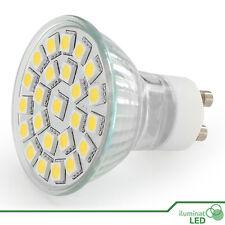 Bombilla Dicroico LED GU10 24 SMD 5050 Blanco Calido 220V - Únicamente 5W