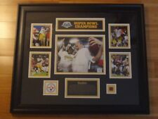 NFL Pittsburgh Steelers Super Bowl 43 - Limited Picture Plaque - game used ball