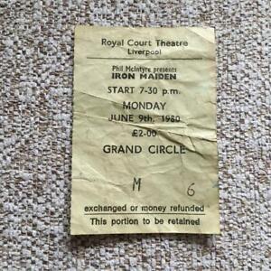 Iron Maiden ticket  Liverpool Royal Court Theatre 09/06/80 #M6