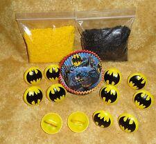 Batman,Dark Knight,Cupcake Kit,Rings,Sprinkles,Bake Cups,DecoPac,Multi-Color