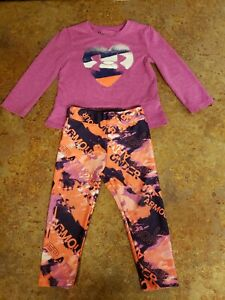 Girls 24 Months Under Armour Outfit Gguc purple and orange