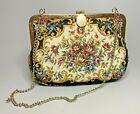 Vintage Floral Tapestry Purse Handbag Clutch Removable Chain Strap - Hong Kong