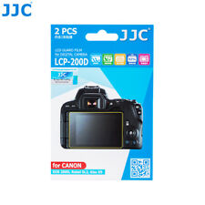 JJC 2PCS LCD Guard Film Screen Protector for CANON EOS 200D /Rebel SL2 /Kiss X9