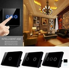 US Plug 1/2/3 Gang 1 Way Wireless Smart Touch Wall LED Light Switch Home
