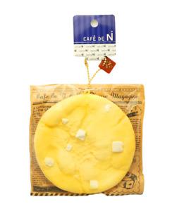 NIC Cafe de N Yellow White Chocolate Chip Cookie Keychain Kawaii Squishy Toy