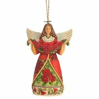 Heartwood Creek Poinsettia Angel Hanging Ornament NEW  By Jim Shore 4047795